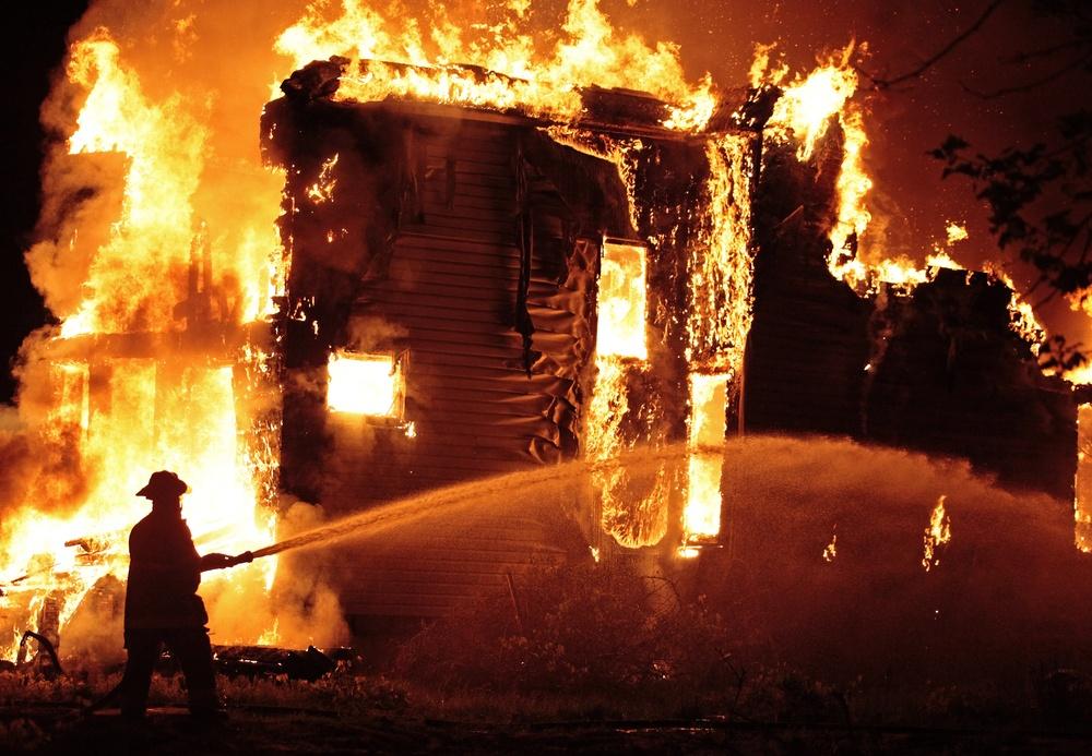 sonhar com fogo incêndio