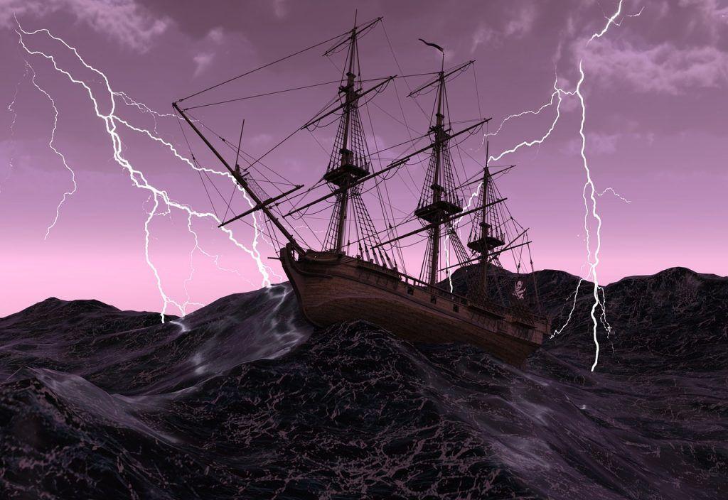 sonhar com navio em águas agitadas