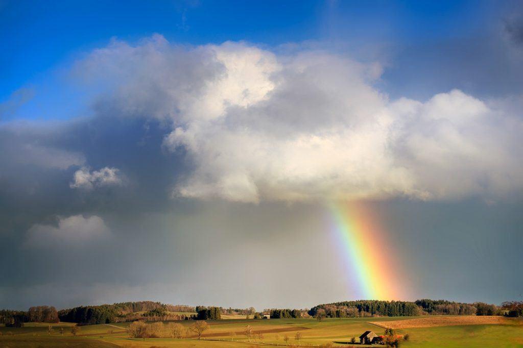 sonhar que vê um arco-íris