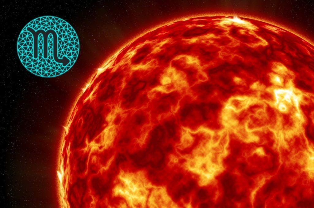 características do sol em escorpião