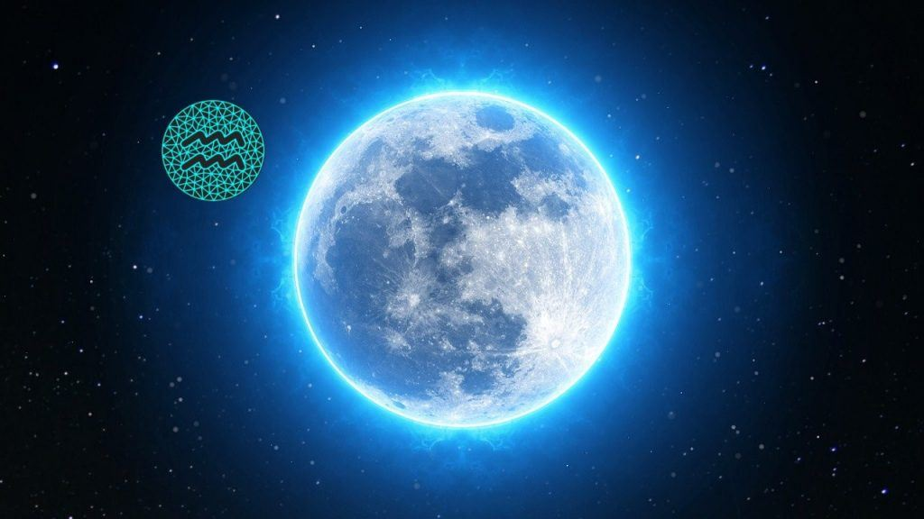 características da lua em aquário